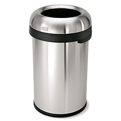 Price Tracking For Simplehuman Bullet Open Trash Can Commercial Grade Heavy Gauge Stainless Steel 80 L 21 1 Gal Cw1469 Price History Chart And Drop Aler Simplehuman Kitchen Trash Cans Trash Can