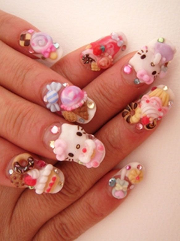 kitty nail art trend ideas