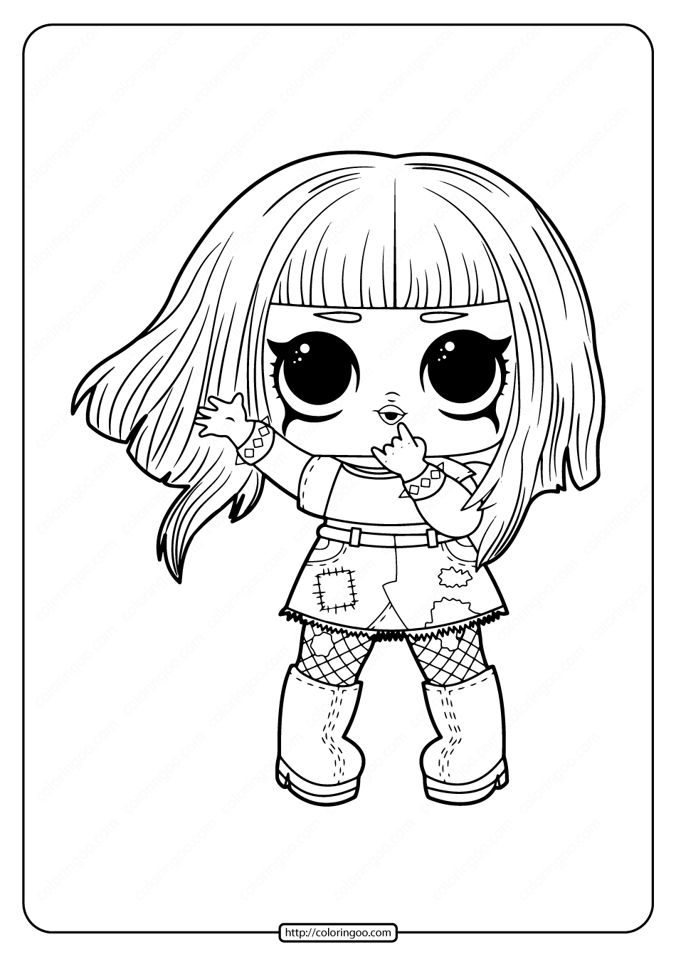 Free Printable Lol Surprise Dolls Coloring Pages High Quality Free Printable Pdf Coloring Drawing Pai Cool Coloring Pages Cute Coloring Pages Coloring Pages