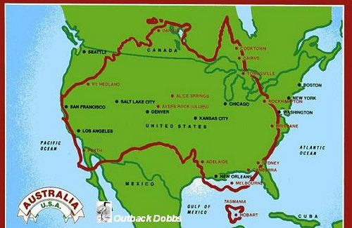 How Big Is Australia Compared To The United States I Wish They Could Move This Graphic Just Slightly North So I Could S The Unit Australia Road Trip Planning