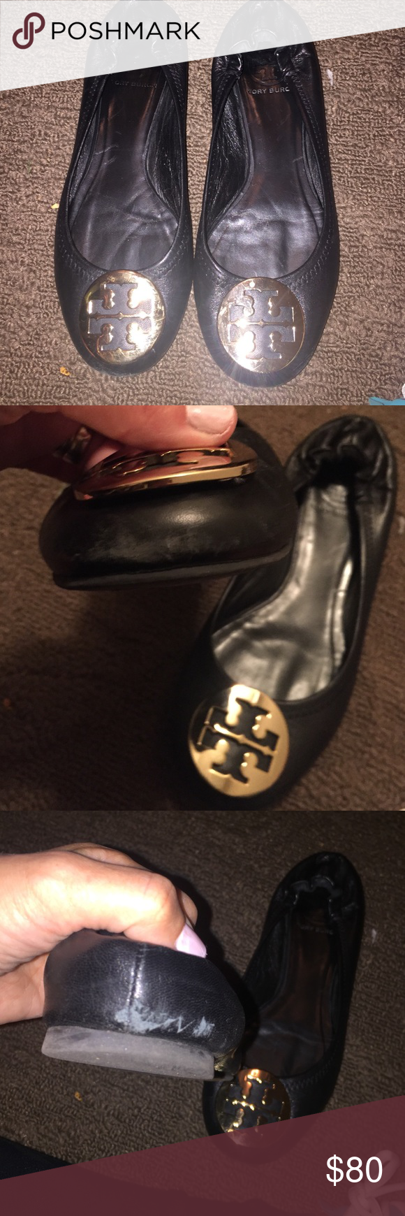 TORY BURCH REVA FLAT Worn couple of times ..some visible wear signs in the front and back. Tory Burch Other