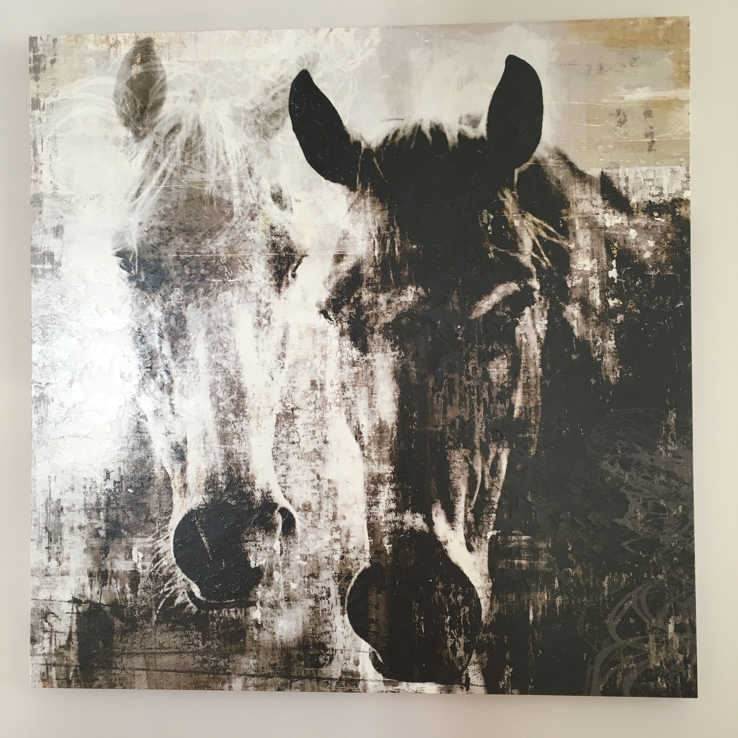 One Of Our Favourite Art Pieces As Seen On The Property Brothers Brothersathome Series Captain And The Miss Horses Horse Painting Art