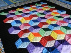 Free Tumbling Block Quilt Pattern | Quilty Pleasures: Show & Tell ... : block quilt ideas - Adamdwight.com