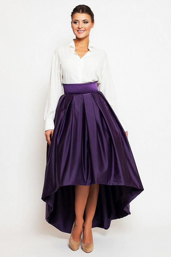Gorgeous evening skirt asymmetric cut. Skirt for formal and festive events. SIZE  XXS (US 0 8778b1377