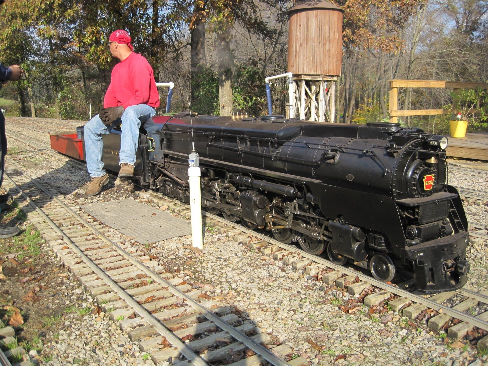 Big Live Steam Locomotives At Mill Creek Central Backyard Train