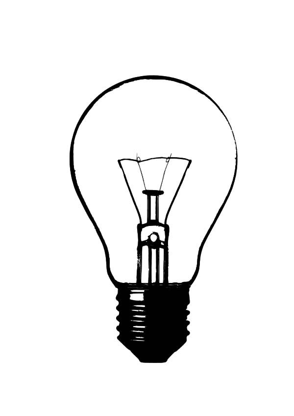 How To Draw Light Bulb Coloring Pages | Light bulb drawing ...