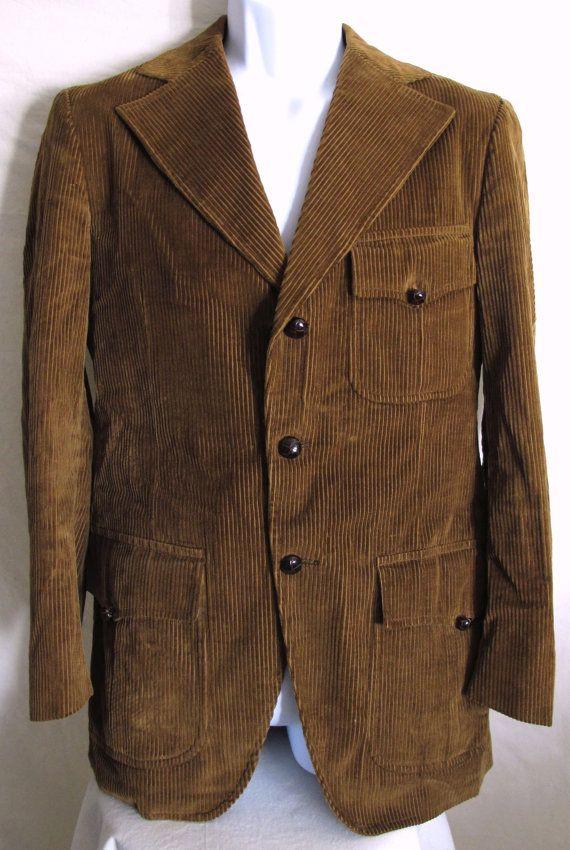 04152cb34490b Vintage 70s Men's Corduroy Suit Jacket Sport Coat Blazer MAC's CLOTHES TREE  Hip Mod on Etsy, $34.00