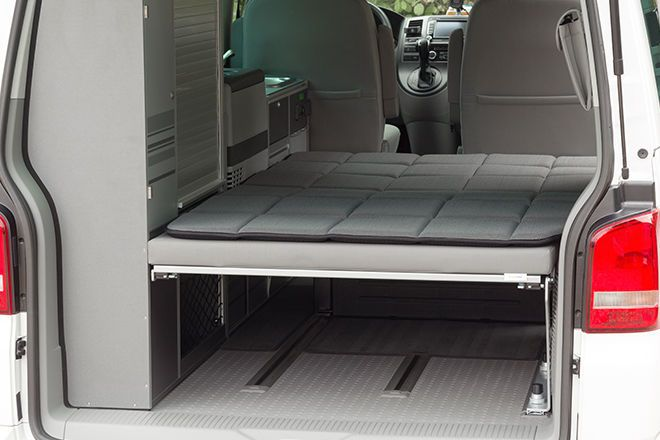 vw t5 t6 matratze faltbett komfort auflage in grau 203 x. Black Bedroom Furniture Sets. Home Design Ideas