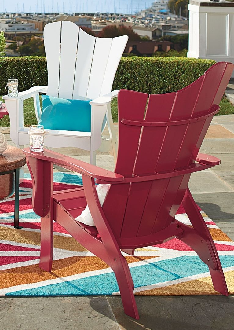 Throw Your Guests A Curve, With The Asymmetrical Silhouette Of Our Funky Adirondack  Chair And