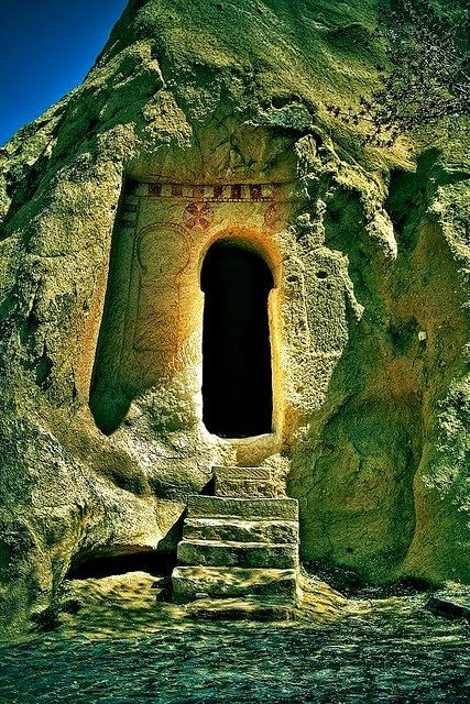 The door isn't closed but I would still love to see what's behind it! Cappadocia, Turkey
