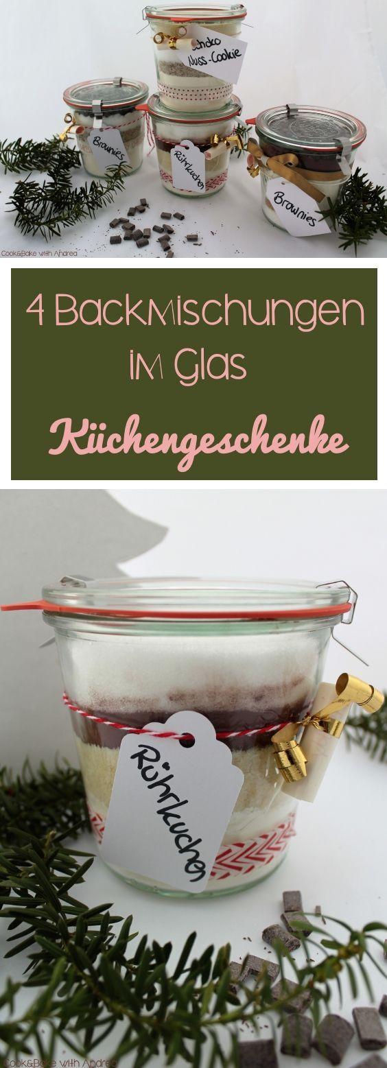 4 Backmischungen im Glas - Last Minute Geschenkidee - C&B with Andrea #weihnachtsgeschenkideen