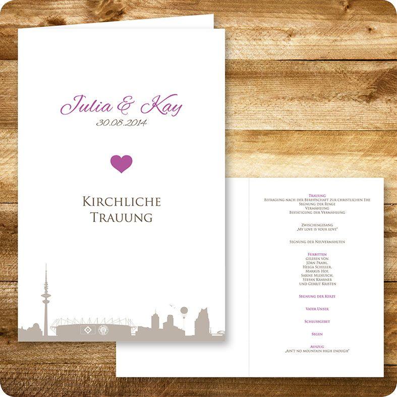 kirchenheft maritim, hamburg, hochzeit, individuell designed by, Einladungsentwurf