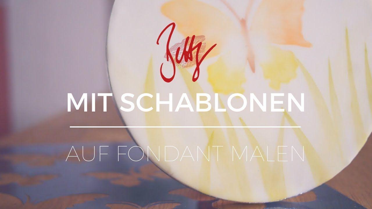Mit Schablonen auf Fondant malen   Betty´s Sugar Dreams ...