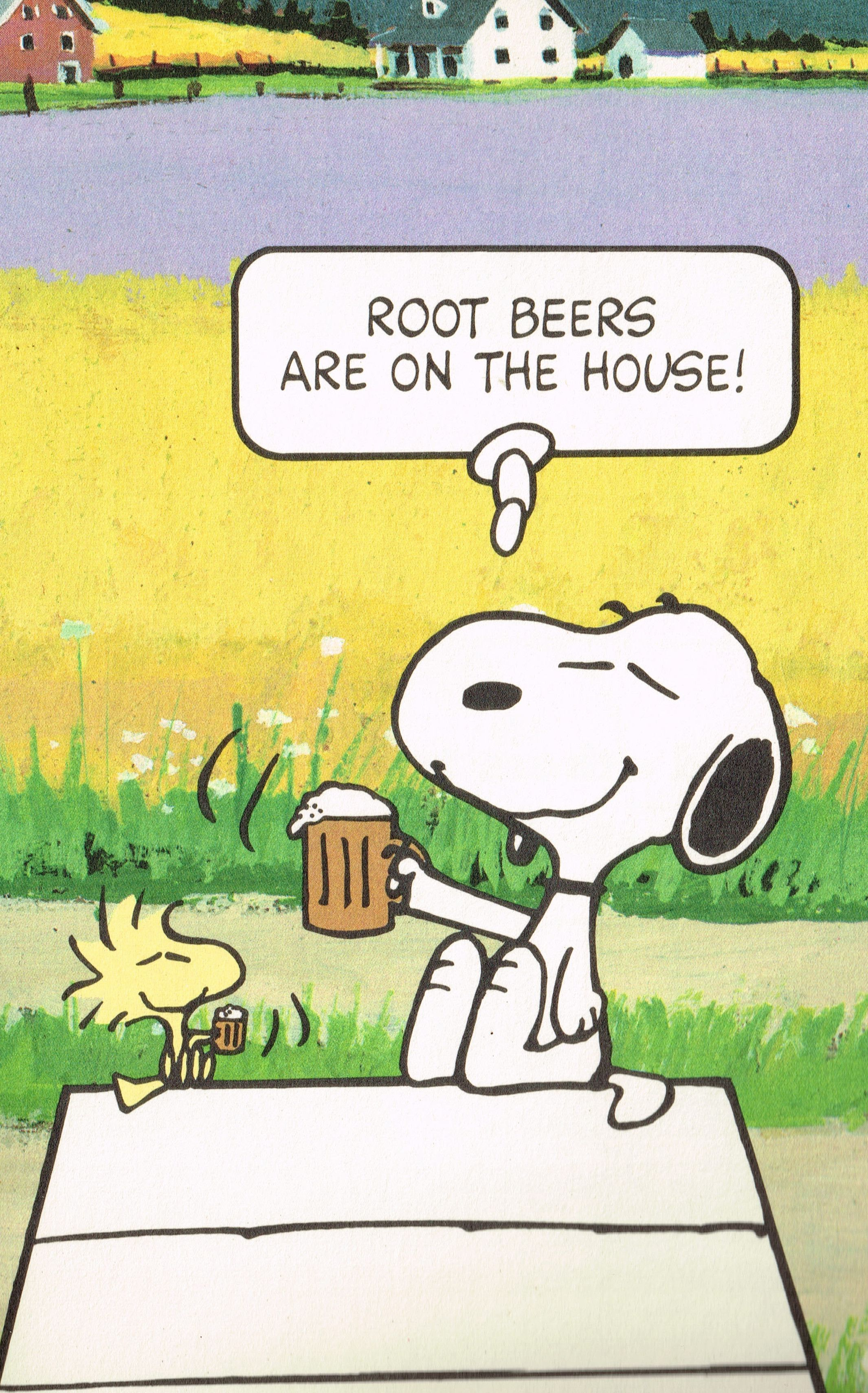 Root Beers Are On The House Snoopy Ephemera Snoopy
