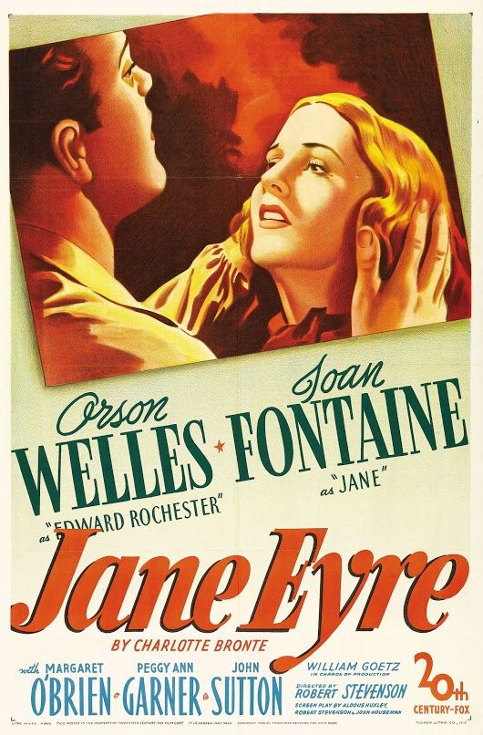 The Charlotte Bronte classic is brought to the screen by 20th Century Fox. This is a vehicle of course for it's star Joan Fontaine yet Welles received top billing as Edward Rochester the man Jane loves. Indeed his character practically takes over the film. I don't think Charlotte Bronte would have appreciated that http://www.nytimes.com/movie/review?res=940DE6DC1F3CEE3BBC4C53DFB466838F659EDE