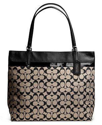 Coach Tote In Printed Signature Fabric Handbags Accessories Macy S