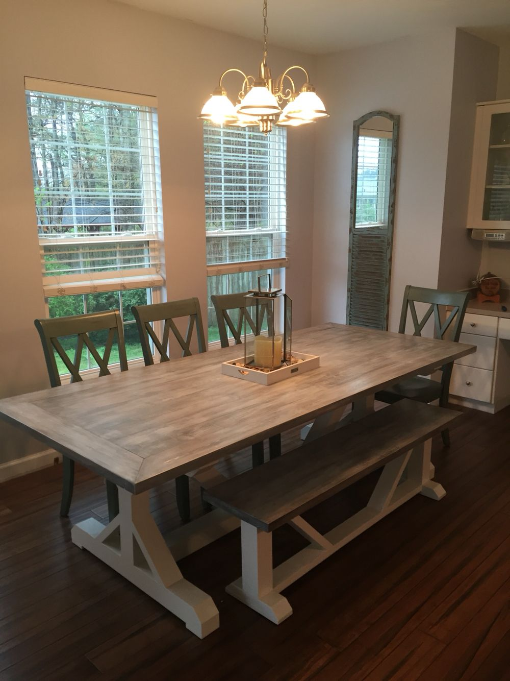 Kitchen Farm Table custom made by Bourbon Woodworking