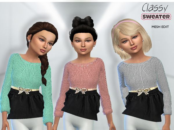 Classy Sweater by Puresim at TSR via Sims 4 Updates | favorites