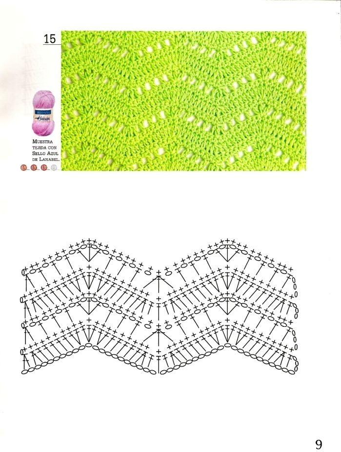 crochet ripple stitch chart | CROCHET CHEVRON RIPPLE -WAVE ...