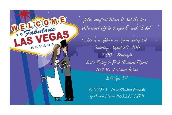 Las Vegas Wedding Invitations Reception by PracticallyDarling Las