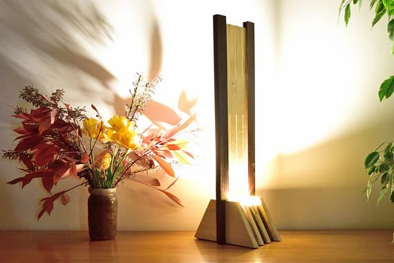 Olied Ipe And Varnished Tulip Tree Wood Lamp Wood Lamps