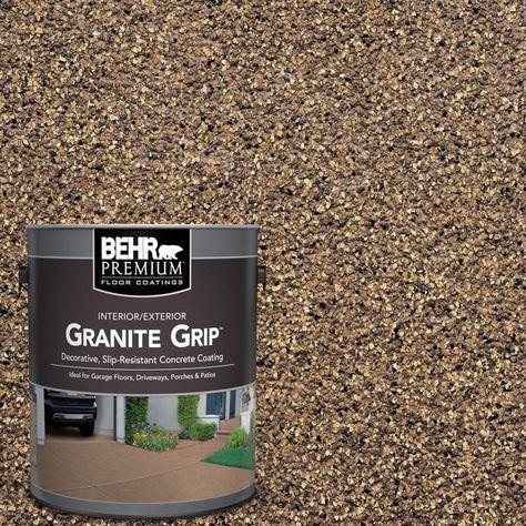 Behr Premium 1 Gal Gg 16 Baltic Stone Decorative Flat Interior Exterior Concrete Floor Coating 65501 The Home Depot Concrete Floor Coatings Concrete Decor Floor Coating