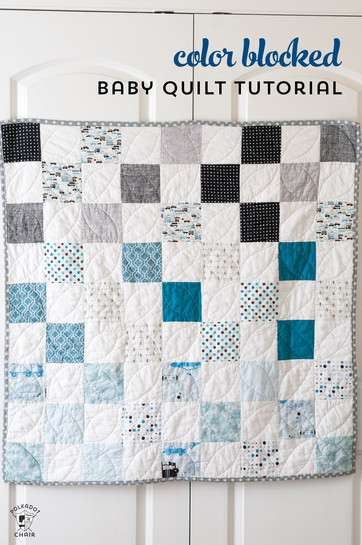 Color Blocked Patchwork Baby Quilt Tutorial A Free Quilt Pattern