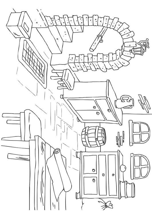 coloring page house - interior - coloring picture house - interior ... - Apartment Building Coloring Pages