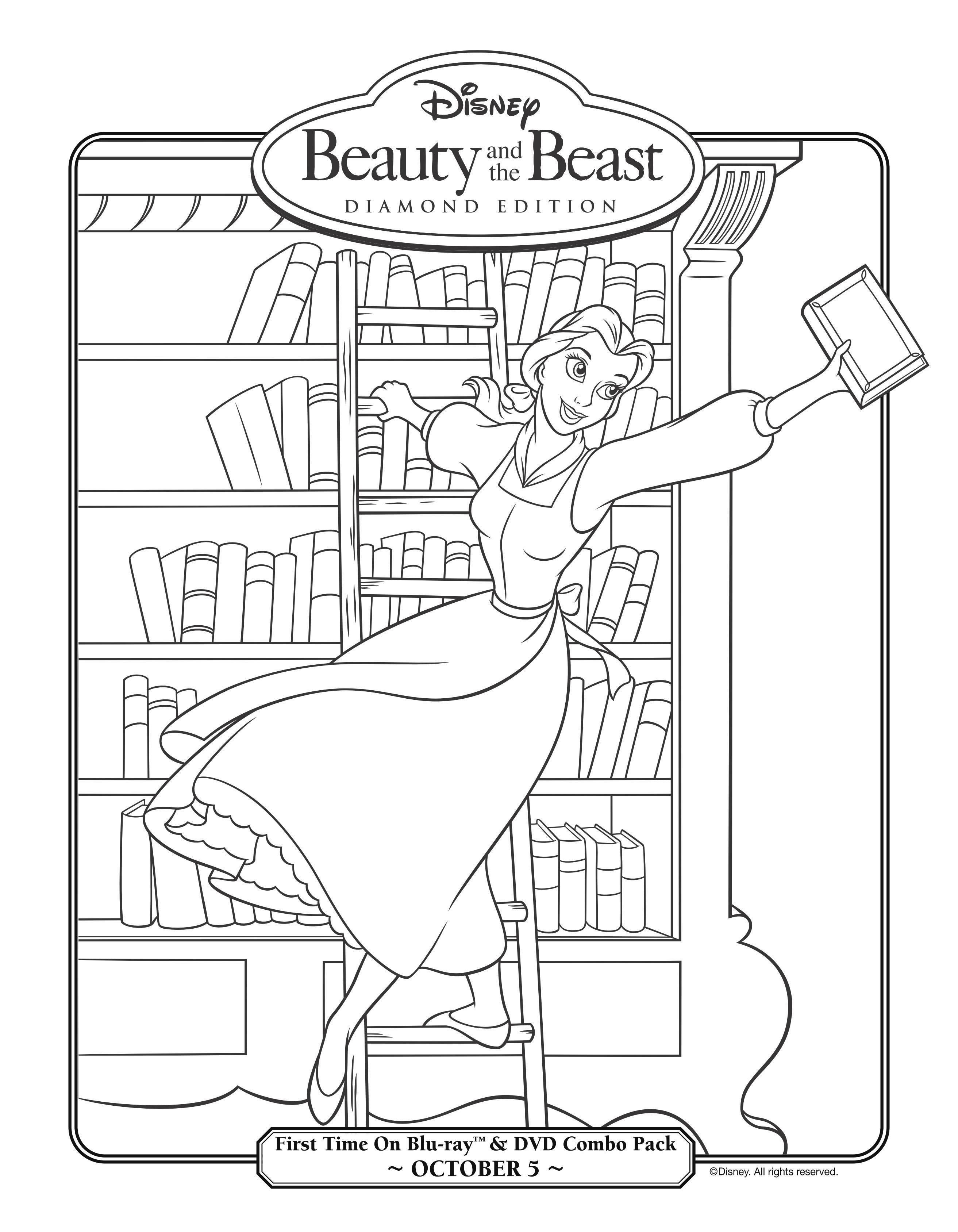 dibujo-para-colorear-la-bella-y-la-bestia-3d-1.jpg (JPEG Image, 2625 ...