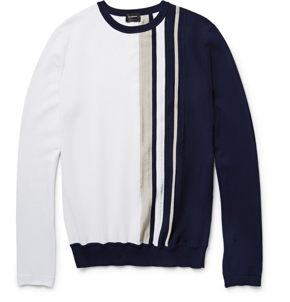Jil Sander Striped Cotton Sweater | Men's Sweater | Pinterest ...