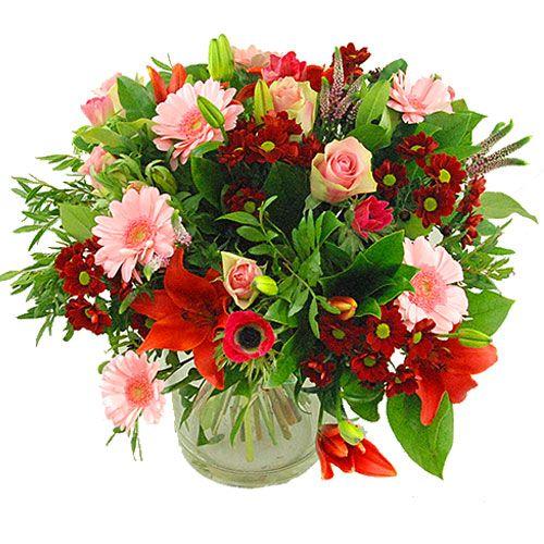 Boeket roze rood  Boeket van roze en rode bloemen gemengd met diverse soorten groen Verkrijgbaar in standaard medium large extra large en super Door beschikbaarheid van bloemen kan het boeket afwijken van de foto Formaat op de foto is medium Een kaartje met persoonlijke tekst kunt u toevoegen na stap 3  EUR 16.95  Meer informatie  http://ift.tt/2cFQ6yk #bloemen
