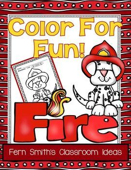 Fire Prevention And Safety Fun Color For Printable Coloring Pages Equals Less Than 10 Cents A Page