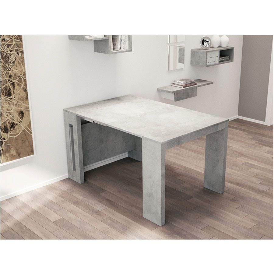Estuary Convertible Console Dining Table Gray Extendable