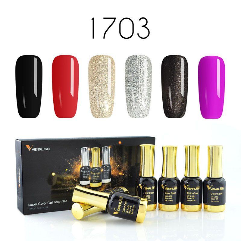 Venalisa 12ml Soak Off Nail Art Design Nail Gel Polish Gift Box