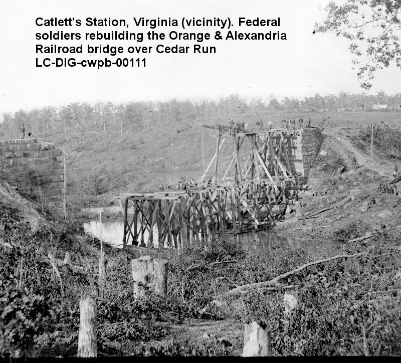 """""""The Rail Road from Bristoe Station to Rappahannock is ..."""