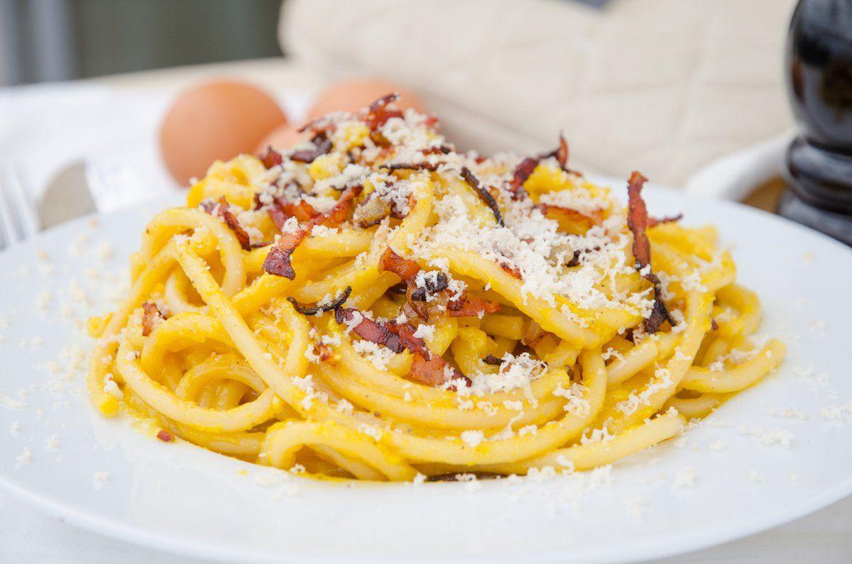 Italiensk Pasta Carbonara Recept Mat Recept Och Matrecept