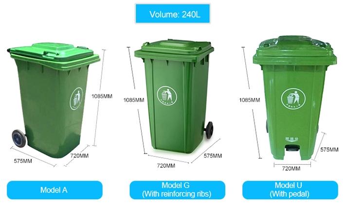 Standard Outdoor 240l Plastic Waste Bin With Wheels 1 Buyer Plastic Waste Waste Bins