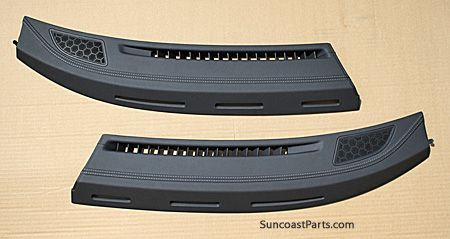 Full Leather Dash Vents In Blue Genuine Porsche Defroster Vents With Hand Stitched Sea Blue
