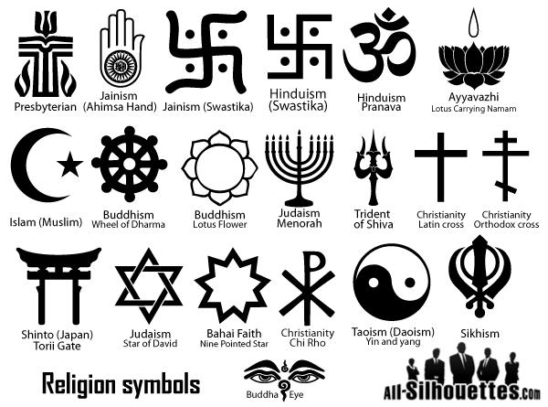 Religion Symbols Vector Random Collection Pinterest Free