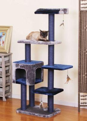 Eco Friendly Elegant Cat Tree In Blue Kedi