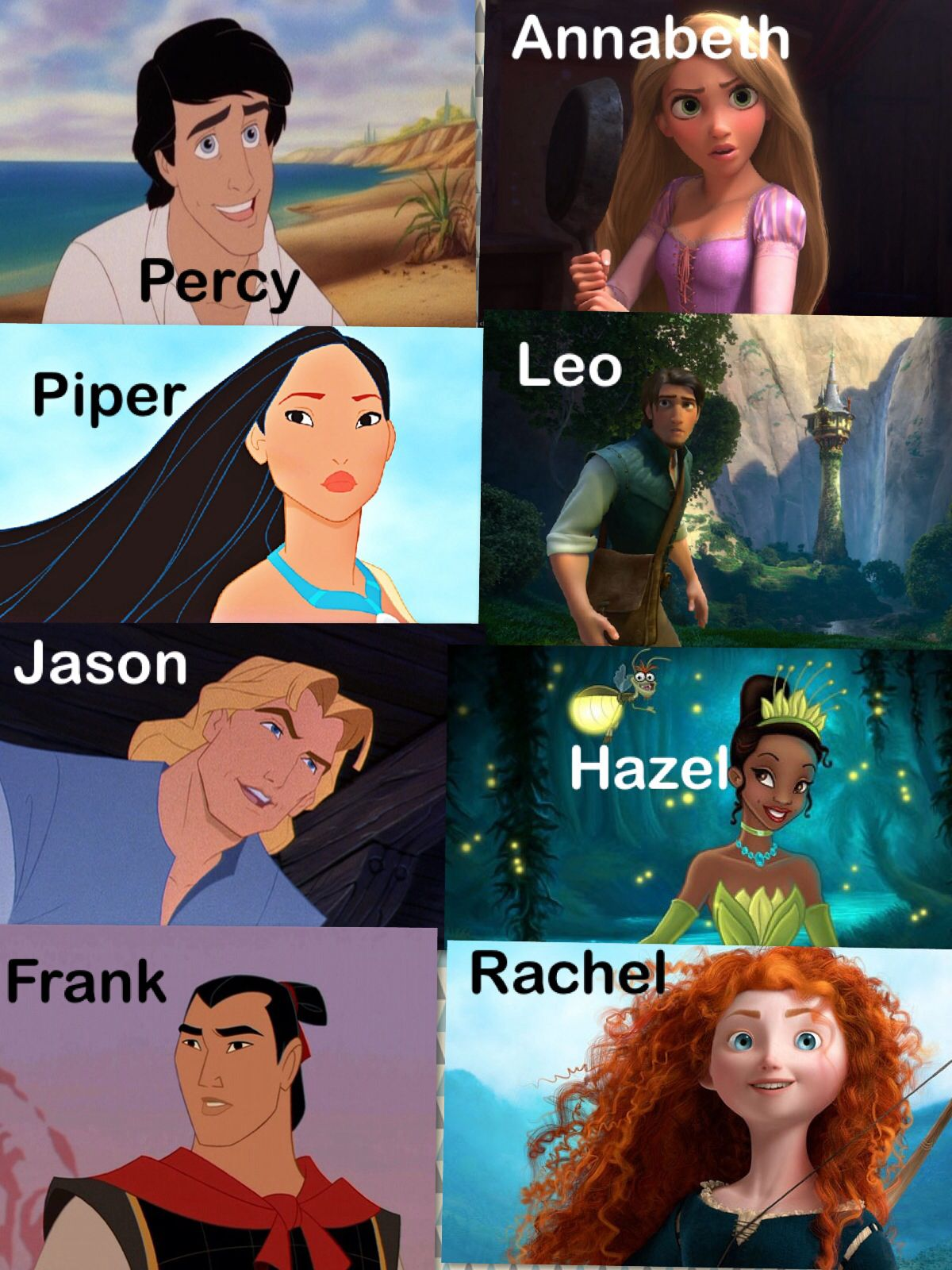Disney characters as heroes of olympus bahahahaha for Book of life characters names