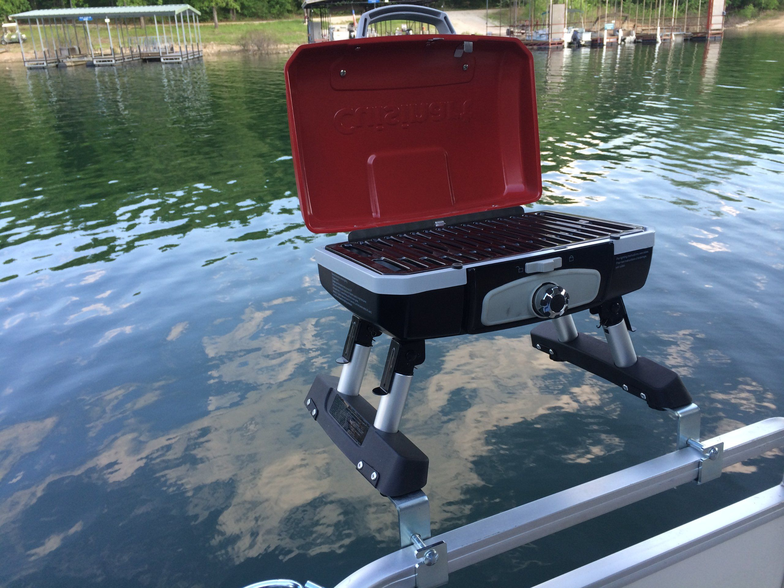 Cuisinart Grill Modified for Pontoon Boat with Arnall's ...