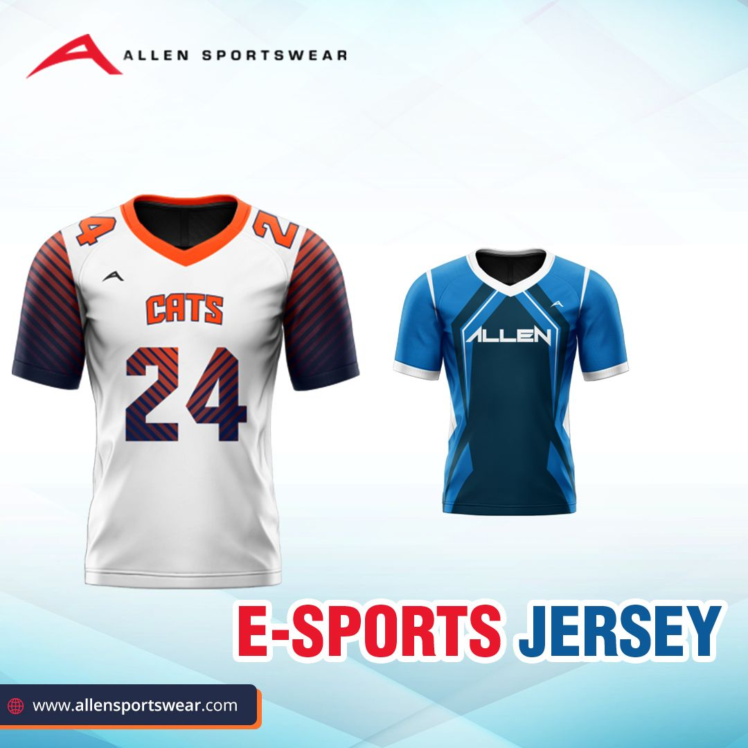 E Sports Uniforms From Allen Sportswear Add A Unique Look And Spirit To Your Gameplay Buy Now At Https In 2020 Custom Sportswear Team Wear American Football Jersey