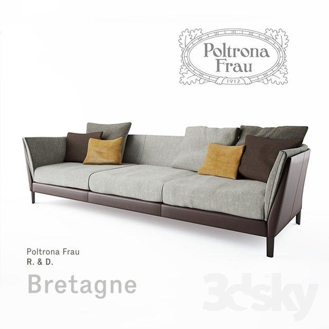 Poltrona Frau Bretagne Sofa 3-seater   Sofa, Sofa furniture ...