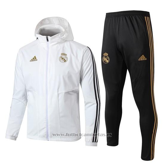 Comprar Chandal De Rompevientos Del Real Madrid 2019 2020 Blanco Barata Camiseta Real Madrid Barata Ropa Gym Hombre Chandal Trajes De Fútbol