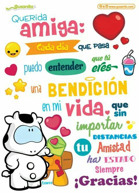 Querida Amiga Gusanito Pinterest Birthday Wishes Happy