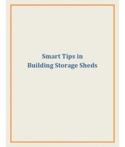 If you are handy with some tools, you can very well build an outdoor shed to clear up all the clutter in your garage. Keep in mind some smart tips that are essential in the construction of storage sheds.