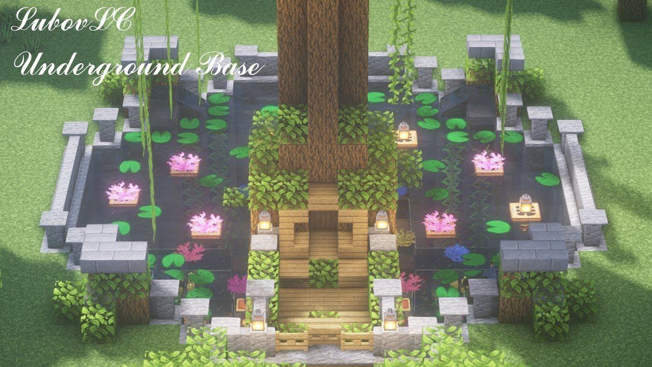 Minecraft Underground Base & Starter TreeHouse 🍄 𝑪