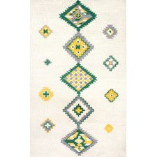 Alexios Hand-Tufted Green Area Rug