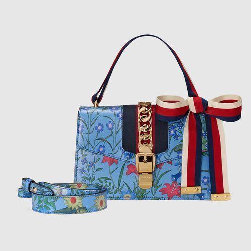 GUCCI Handbags Flower Patterns 2WAY Chain Leather Elegant Style 2 ... f1de226825476
